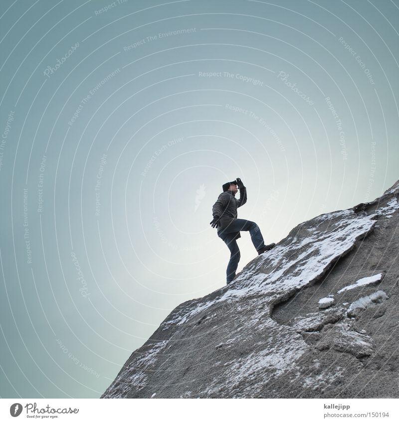 upload Mensch Mann Spielen Berge u. Gebirge Arbeit & Erwerbstätigkeit wandern Erfolg Klettern Beruf Aussicht Blick Wirtschaft Handel Tourist Kapitalwirtschaft