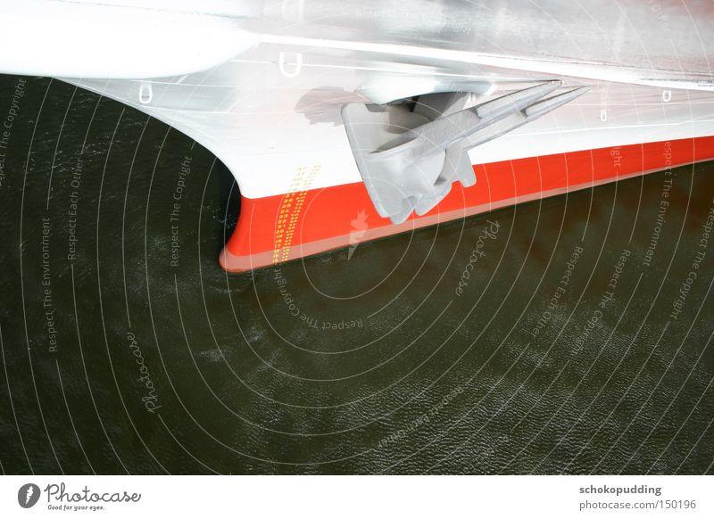 Maschinen stopp!!! Wasser Wasserfahrzeug Industrie Technik & Technologie Schifffahrt Fernweh Ware Schiffsbug Anker Hamburger Hafen