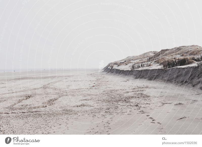 am strand Ferien & Urlaub & Reisen Tourismus Ausflug Ferne Freiheit Strand Insel wandern Umwelt Natur Landschaft Sand Himmel Hügel Nordsee Meer ruhig