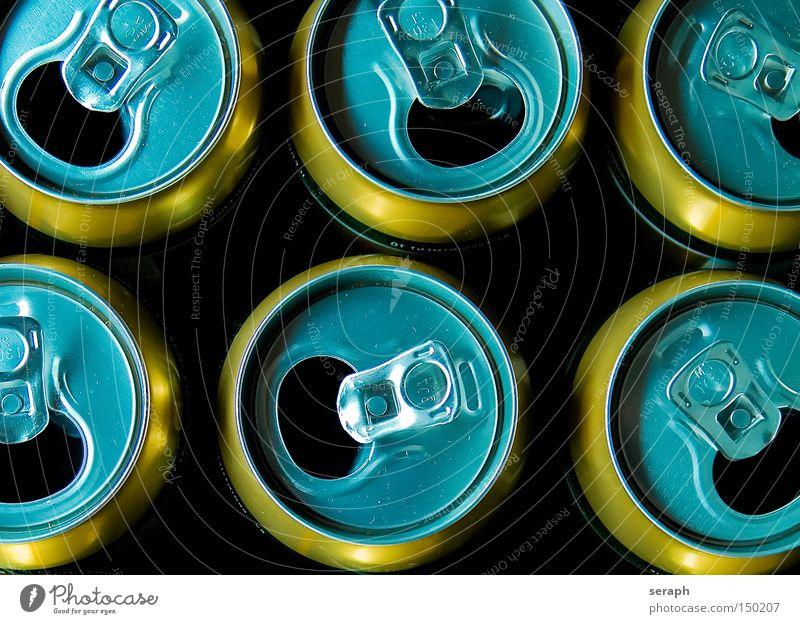 Nachher... Ernährung Metall Lebensmittel leer frisch Getränk trinken Bier Flüssigkeit Schloss Alkohol Dose Aluminium Recycling Snack satt