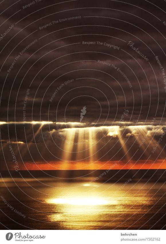 trauern... Ferien & Urlaub & Reisen Tourismus Ausflug Abenteuer Ferne Freiheit Natur Himmel Wolken Horizont Wellen Küste Insel Kanaren La Palma träumen Kitsch