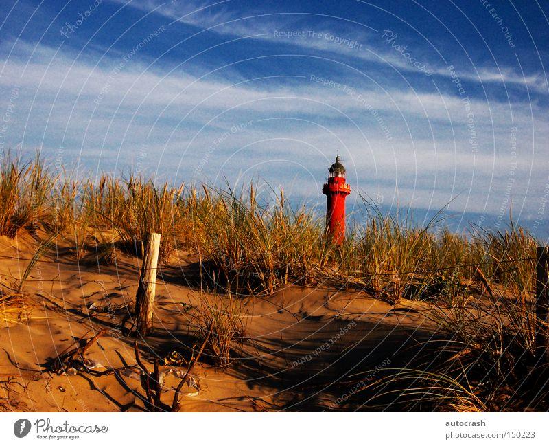 Am Leuchtturm Stranddüne Düne Turm Licht Küste Gras Hafen Sommer lighthouse