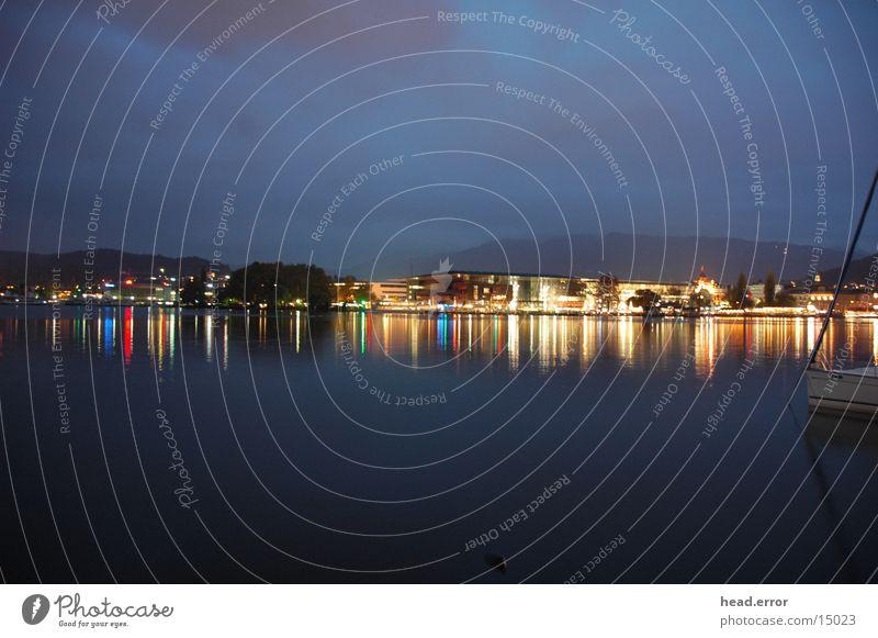 illumination Europa Neonlicht Abenddämmerung Farbenspiel Luzern