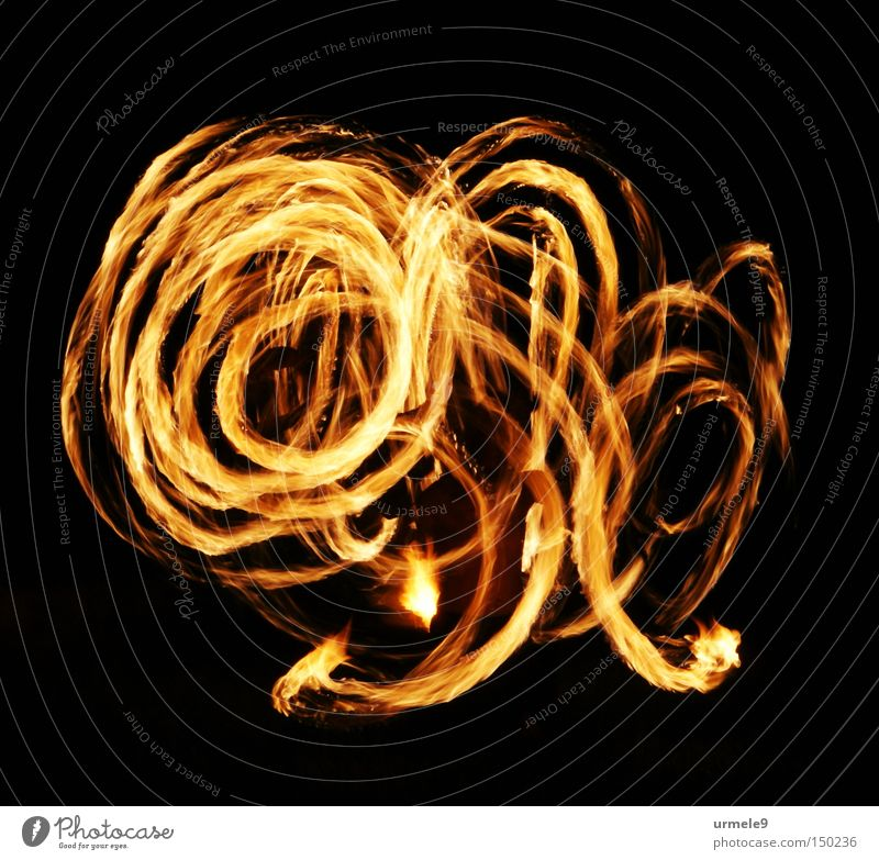 Savitri - feurige Bewegung rot Tanzen Brand Spuren Teile u. Stücke Flamme Spirale