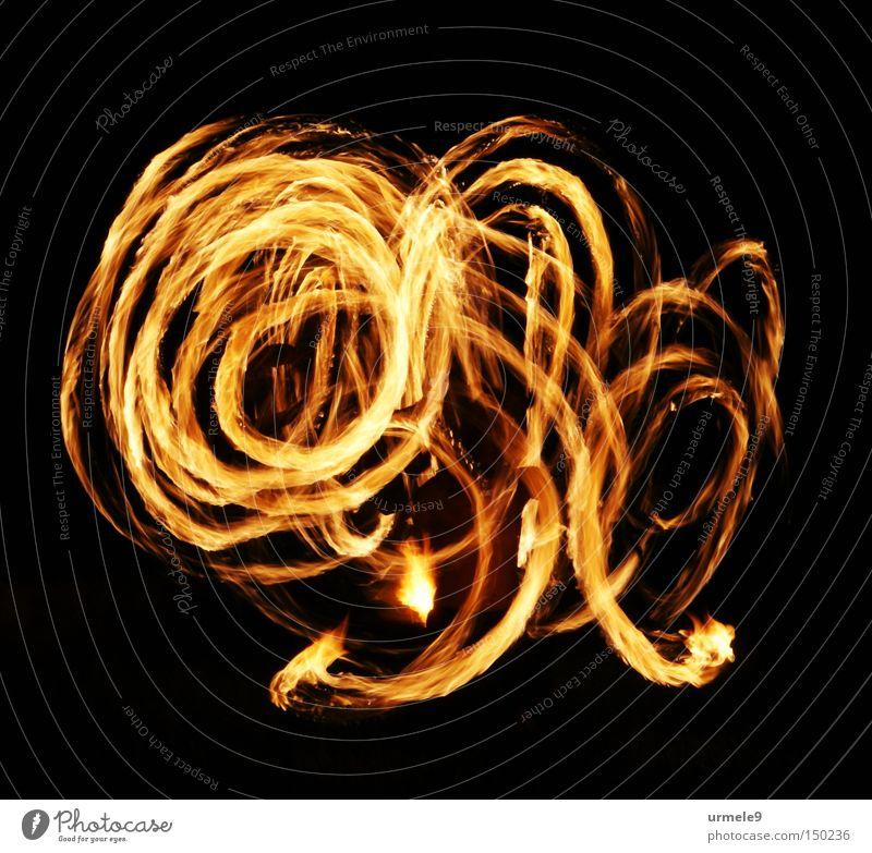 Savitri - feurige Bewegung Spuren Spirale Nacht rot Langzeitbelichtung Außenaufnahme Brand Flamme Tanzen Teile u. Stücke