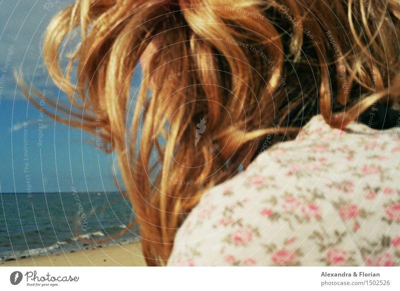 Dune du Pilat Mensch Frau Natur Ferien & Urlaub & Reisen Jugendliche Wasser Junge Frau Sonne Meer Erholung Landschaft Strand 18-30 Jahre Erwachsene Umwelt Leben