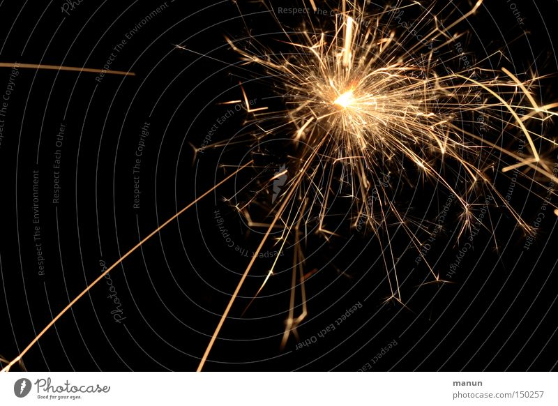 Feierwerk 100 :-)) Weihnachten & Advent Freude schwarz gelb Glück Party Lampe hell Feste & Feiern glänzend gold Geburtstag leuchten Dekoration & Verzierung