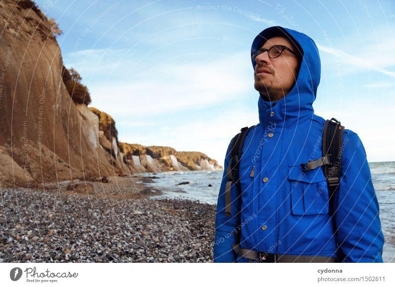 Küstenwanderer Mensch Natur Ferien & Urlaub & Reisen Jugendliche Meer Junger Mann Landschaft ruhig Strand 18-30 Jahre Erwachsene Leben Wege & Pfade Freiheit