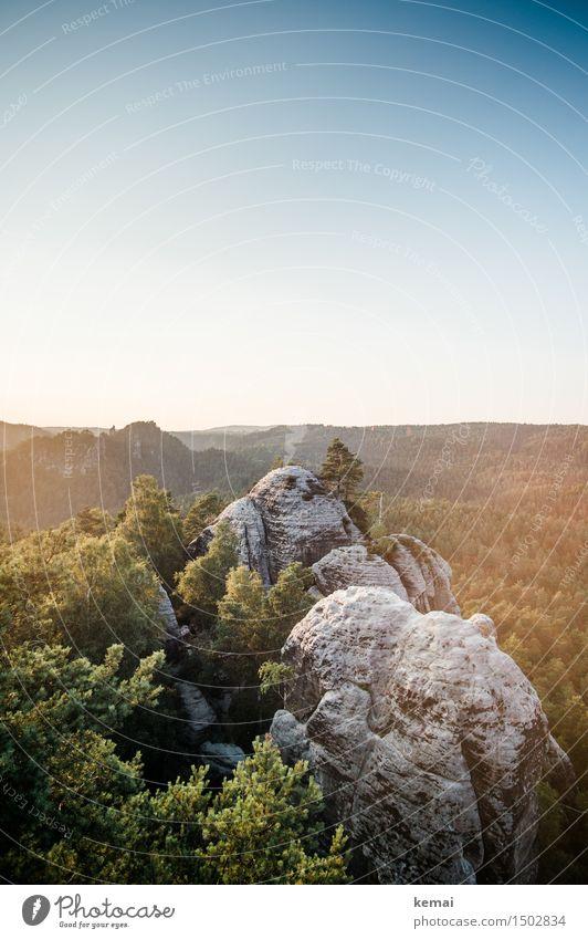 Felsenblick Ferien & Urlaub & Reisen Ausflug Abenteuer Ferne Freiheit Umwelt Natur Landschaft Wolkenloser Himmel Sonnenaufgang Sonnenuntergang Sonnenlicht