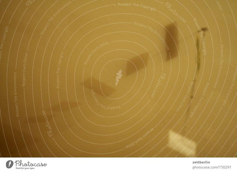 Decke Strukturen & Formen Schatten Reihe Haken Nähgarn Draht Geister u. Gespenster Raum Nebel trüb geheimnisvoll Unschärfe Bewusstseinsstörung obskur