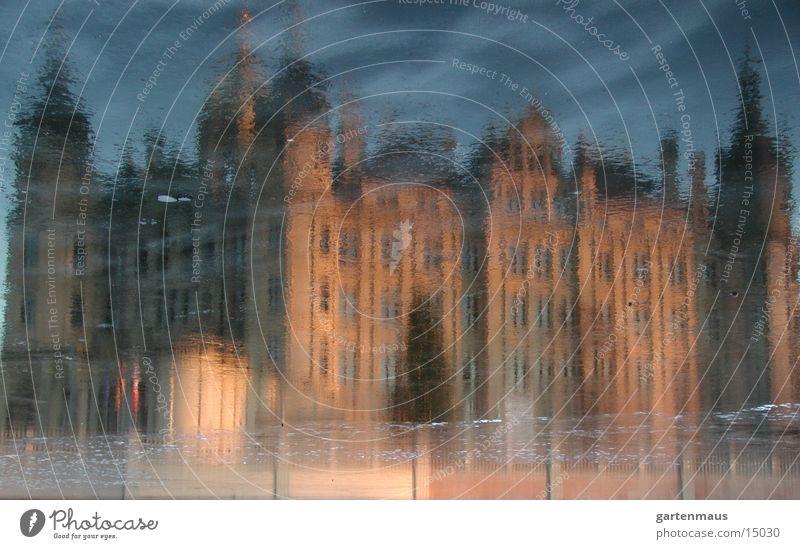 Schloß im Spiegel Spiegel historisch Schwerin