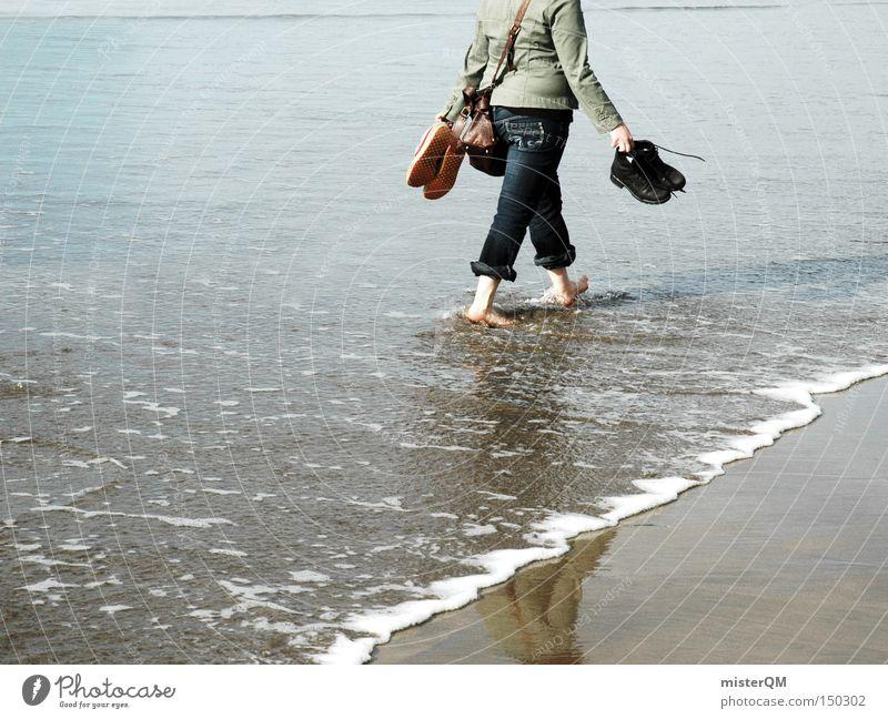 Freiheit kann man fühlen. Ferien & Urlaub & Reisen Meer Strand Farbe Erholung Gesundheit Wellen Spaziergang Wellness Vertrauen Ostsee genießen Barfuß Kur