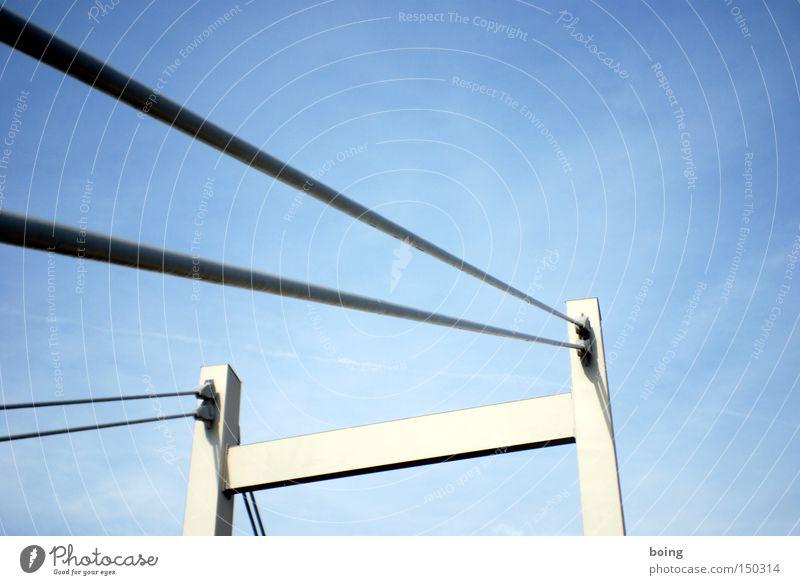 Brücke der Deutschen Einheit Straße Fluss Verbindung Stahl Spannung verbinden Wiedervereinigung Überqueren Drahtseil Hängebrücke Schrägseilbrücke