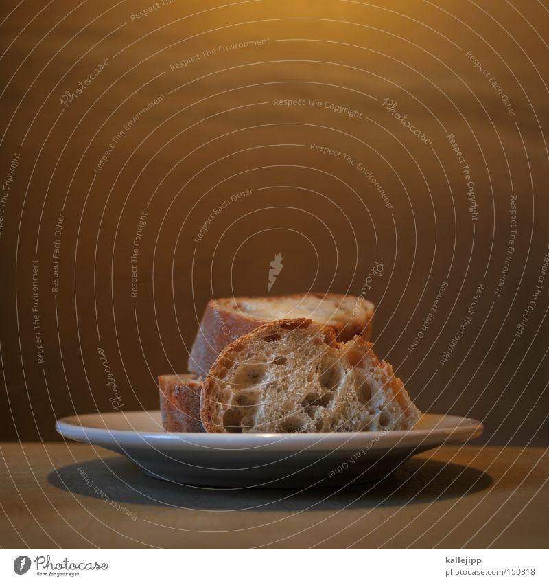 ... für die welt Brot Lebensmittel Ernährung Abendessen Abendmahl Teller Tisch Weißbrot Scheibe Teilung preiserhöhung Essen