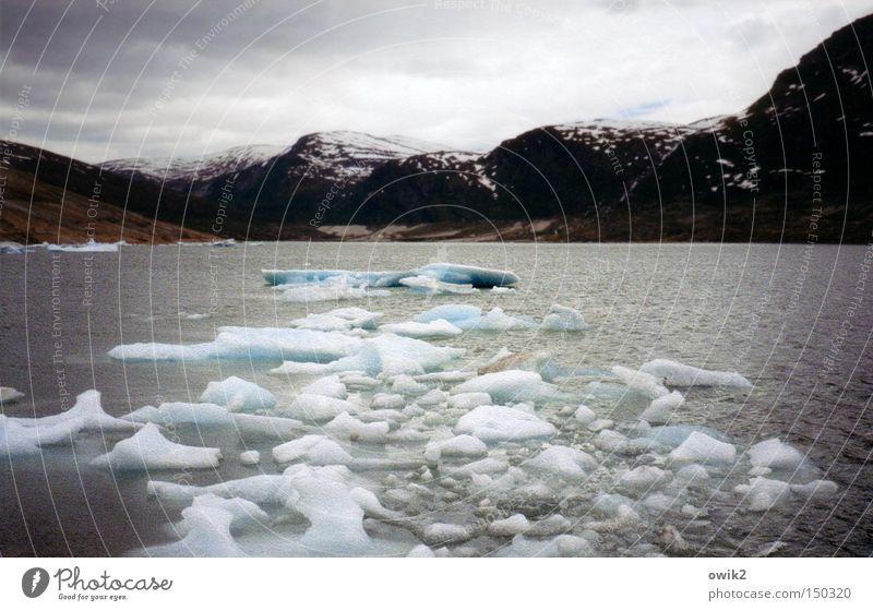 Gletscherabbruch Himmel Natur Wasser Meer Landschaft Wolken Strand kalt Berge u. Gebirge Umwelt Kunst Felsen Wetter Eis Wellen groß