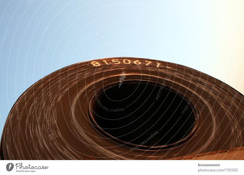 8150671 Metall Industrie Kreis rund Stahl Rost Schnecke Eisen Spirale Rolle schwer