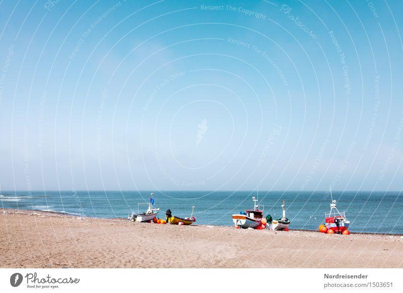 Küstenfischer Ferien & Urlaub & Reisen Tourismus Sommer Sonne Strand Meer Natur Landschaft Sand Luft Wasser Wolkenloser Himmel Schönes Wetter Nordsee