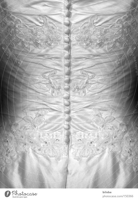 Zugeknöpft Frau weiß schön Rücken geschlossen Romantik Kleid Knöpfe Braut Brautkleid
