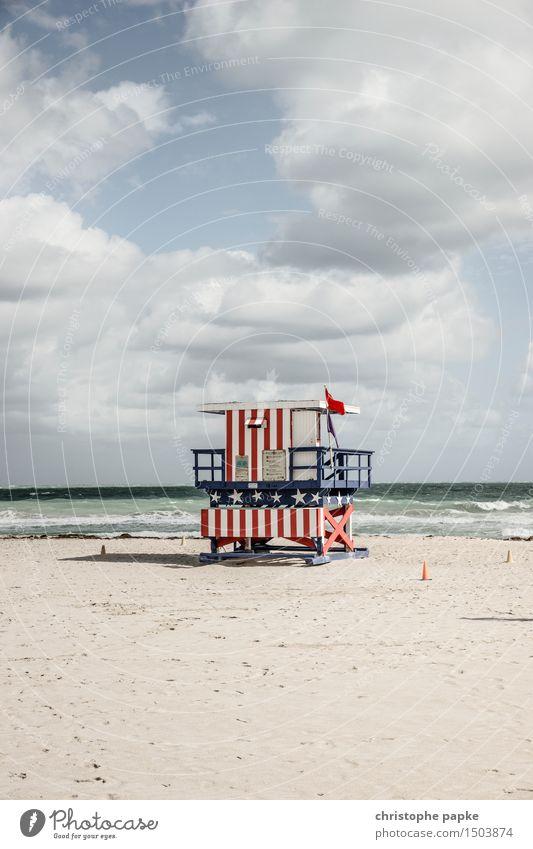 American Baywatch Himmel Ferien & Urlaub & Reisen Stadt Sommer Meer Wolken Ferne Strand Freiheit Tourismus Wellen Schönes Wetter USA Hütte Wahrzeichen
