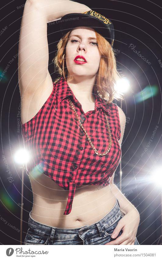 Hip Hop Mensch Jugendliche Stadt Junge Frau 18-30 Jahre Erwachsene feminin Stil Lifestyle Mode verrückt Tanzen retro Kultur einzigartig Jugendkultur