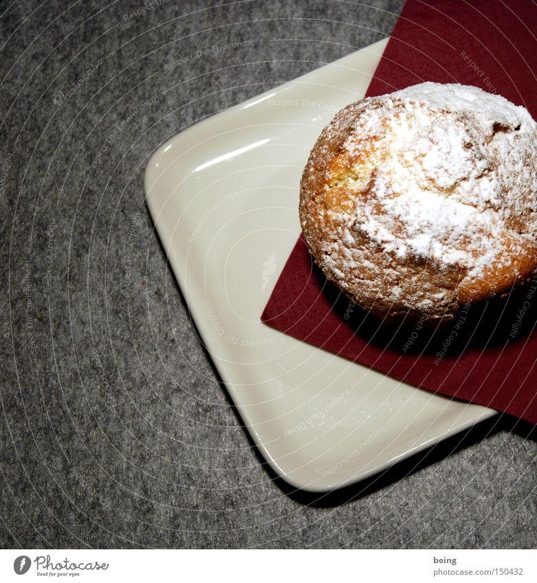 doch ein kleiner Pistazienkuchen Freude Geburtstag Kuchen Backwaren Muffin Serviette Filz Puderzucker