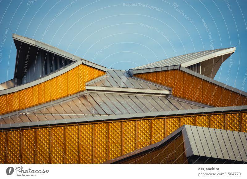 Vollendet ist das Berliner Dach mit seinen Formen . Vollendete Architektur. Design ruhig Traumhaus Sommer Schönes Wetter Stadt Berlin-Mitte Brandenburg