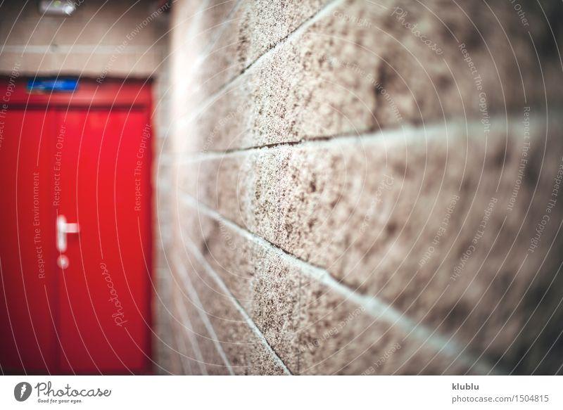 Korridor mit Notausgang weiß Architektur Gebäude hell Arbeit & Erwerbstätigkeit Büro modern offen Perspektive Technik & Technologie warten Sauberkeit erleuchten