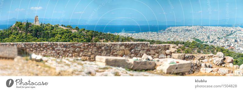 Blick von der Akropolis in Athen, Griechenland Himmel Ferien & Urlaub & Reisen Stadt alt blau schön Sommer weiß Wolken Architektur Gebäude Tourismus Europa
