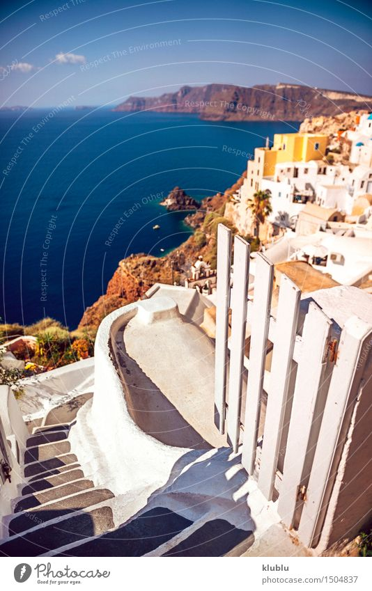 Griechenland, Santorini-Insel, Oia-Dorf, weiße Architektur schön Ferien & Urlaub & Reisen Tourismus Sommer Meer Berge u. Gebirge Haus Kultur Natur Landschaft