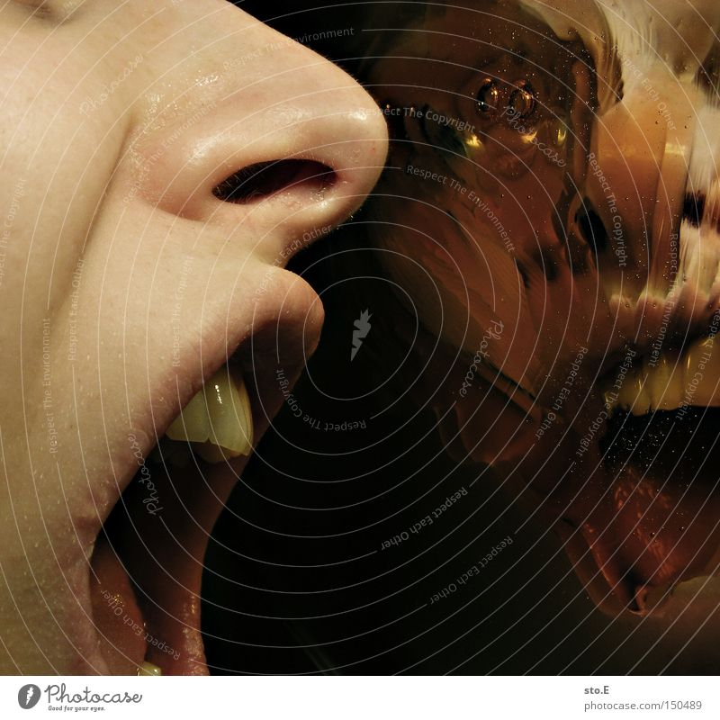 being just a little strange pt.2 Mensch Freude Gesicht Gefühle Mund Angst Wut schreien Panik Ärger Reaktionen u. Effekte Verzerrung