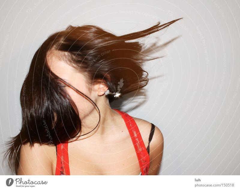 h o u s e II Freude Haare & Frisuren Party Musik Tanzen Glück Lebensfreude Begeisterung Euphorie Leichtigkeit Schwung Takt dance hair fun Farbfoto Innenaufnahme