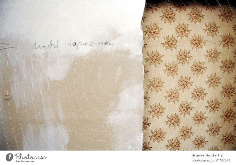 nicht tapezieren alt weiß Blume Farbe Wand grau braun Hintergrundbild Tapete verfallen beige Demontage tapezieren