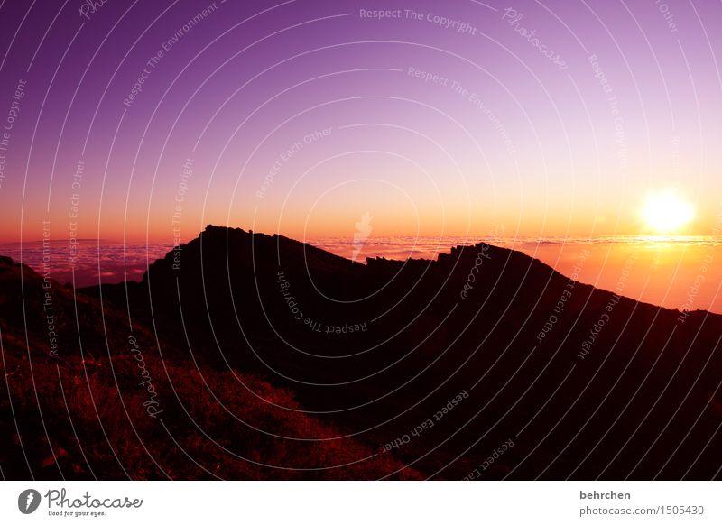 wenn die sonne hinter... Ferien & Urlaub & Reisen Tourismus Ausflug Abenteuer Ferne Freiheit Landschaft Himmel Wolken Horizont Berge u. Gebirge
