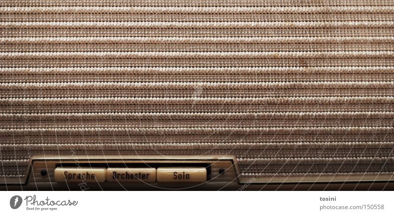 Orchester Radio Radiogerät Technik & Technologie Technikfotografie Lautsprecher alt retro Taste Nostalgie Musik gebraucht Klang Ton Röhrenradio