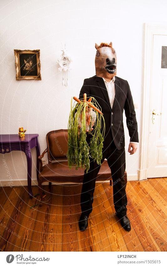LP.HORSEMAN. XII Ernährung Häusliches Leben Wohnung Karneval Halloween maskulin Mann Erwachsene 1 Mensch Mode Bekleidung Anzug Pferd Tier warten ästhetisch