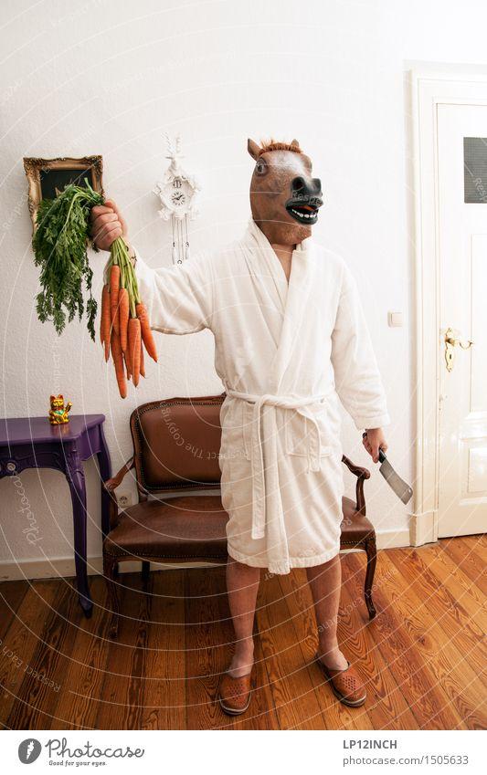 LP.HORSEMAN. VI Mensch Mann Stadt Tier Erwachsene lustig Lebensmittel maskulin verrückt gefährlich bedrohlich festhalten Gemüse Pferd Maske gruselig