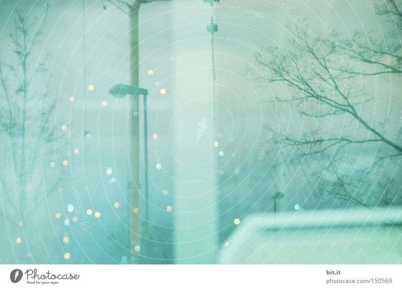 DUSCHE ZUR BLITZEISERZEUGUNG Himmel blau Winter Schnee träumen Kunst Eis Stimmung Feste & Feiern glänzend Design Frost einzigartig Bild Idee geheimnisvoll