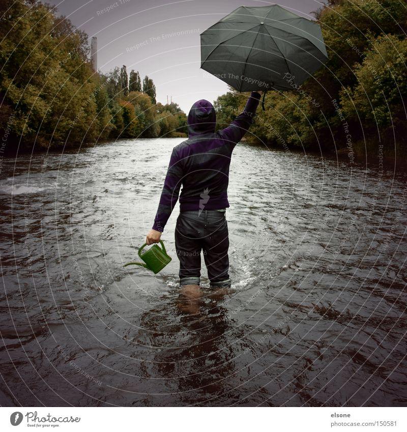 HERBSTWANDERUNG Mensch Natur Wasser grün Wald Herbst Regen Umwelt Abenteuer Fluss Regenschirm Sturm Bach Umweltschutz Revolution Gießkanne