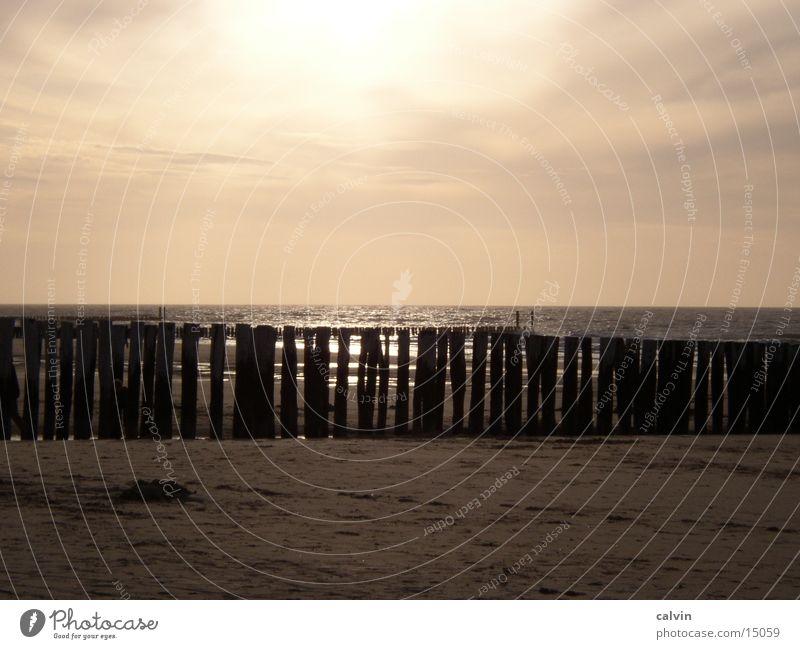 Sonnenuntergang in Domburg Strand Wolken Nordsee Abend