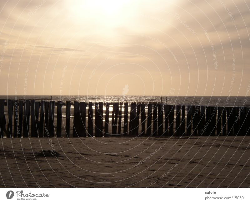 Sonnenuntergang in Domburg Strand Wolken Nordsee
