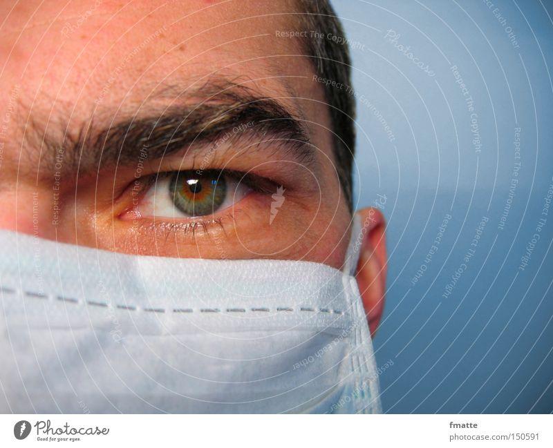 Arzt Auge Gesundheit Gesundheitswesen Arzt Konzentration Wissenschaften Mundschutz Beruf