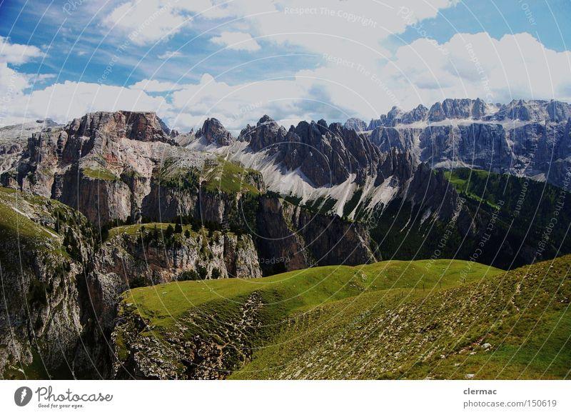 dolomiten cir pitzen und sella Ferien & Urlaub & Reisen Berge u. Gebirge wandern Italien Klettern Alpen Alm Südtirol