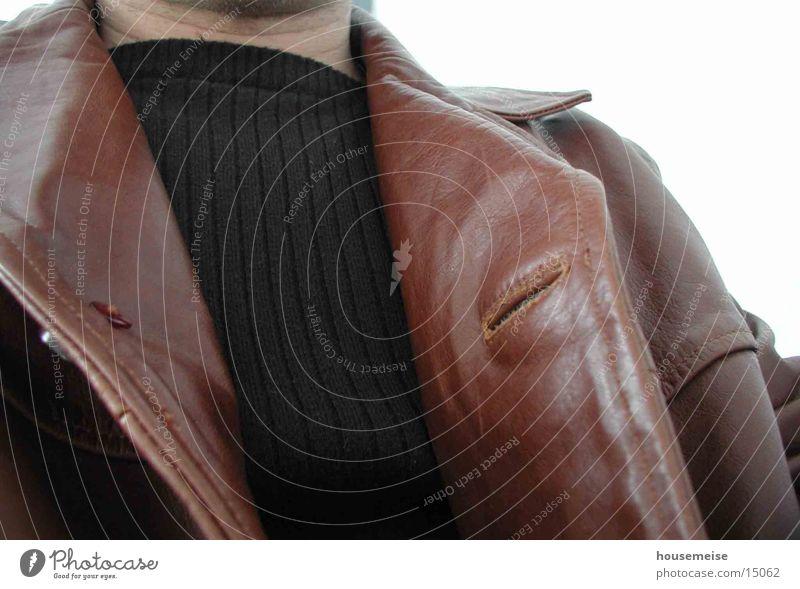 Jacke Mensch Stil Bild Leder Textilien