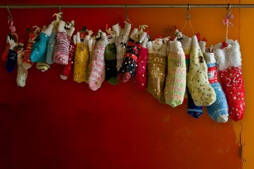 Völlig von den Socken Lifestyle Stil Design Basteln Handarbeit Feste & Feiern Weihnachten & Advent Strümpfe Dekoration & Verzierung Kitsch Krimskrams Zeichen