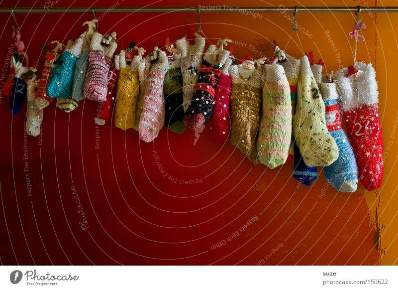 Völlig von den Socken schön Weihnachten & Advent Wand Stil Feste & Feiern außergewöhnlich Lifestyle Design Dekoration & Verzierung niedlich einzigartig Kreativität Ziffern & Zahlen Zeichen Geschenk