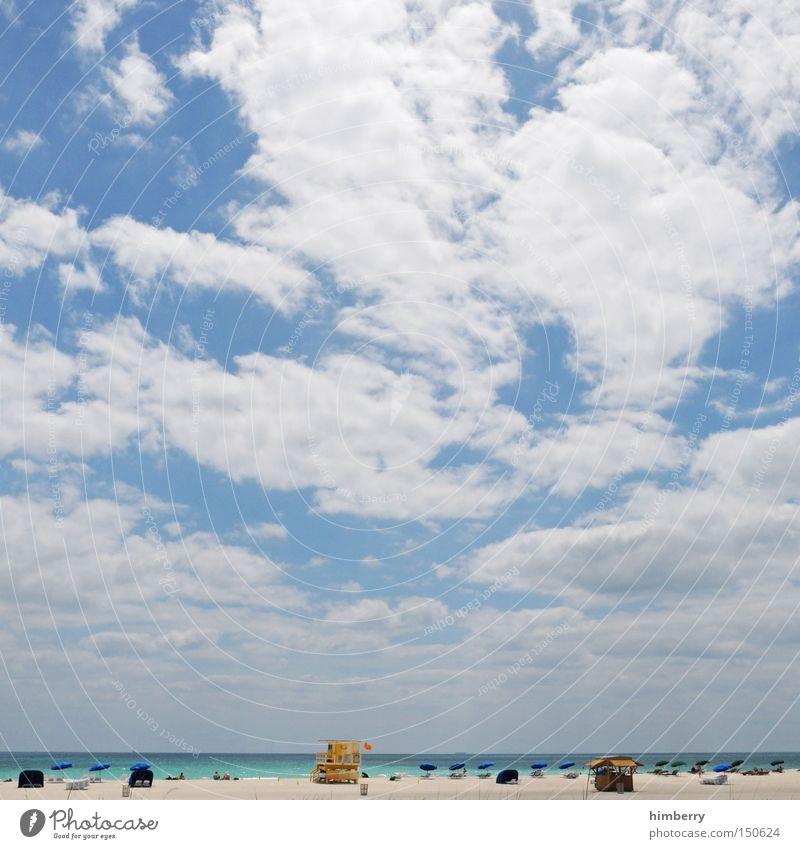 miami beachcase Strand Ferien & Urlaub & Reisen Badeurlaub Sommer Sommerferien Miami Miami Beach Florida USA Amerika Tourismus Meer Atlantik Zufriedenheit