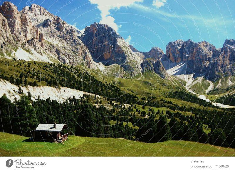 dolomiten col raiser Berge u. Gebirge wandern Klettern Alm Ferien & Urlaub & Reisen Italien Wiese Alpen