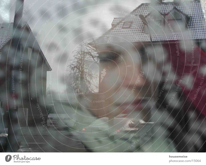 GIRL Frau Mensch Regen Kunst Nebel Bild