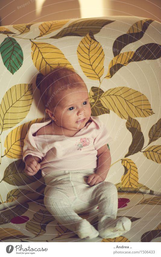 Baby Dream Mensch feminin Kind Kleinkind Geschwister Schwester Körper 1 0-12 Monate sitzen gelb grün Zufriedenheit Frühlingsgefühle Gelassenheit ruhig Sehnsucht
