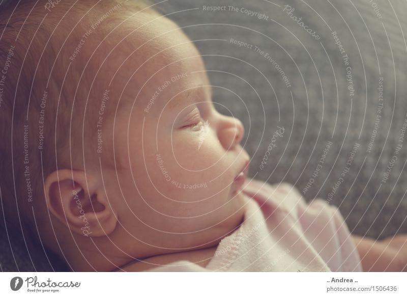 Baby Dream Mensch Gesicht feminin träumen Zufriedenheit liegen schlafen Müdigkeit Geborgenheit Erschöpfung 0-12 Monate bequem Trägheit